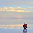 ボリビア、ウユニ塩湖。