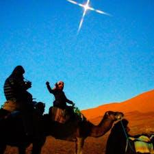 モロッコ、メルズーガの砂漠。 明けの明星、金星が光ってました。
