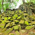 カンボジア、アンコールワット。 まるでジブリのラピュタに来たみたい。
