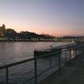 ブダペスト ライン川の夕暮れ時