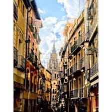 スペイン、トレドの街の風景。