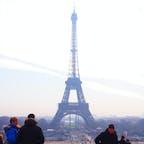 遠目から見た感じも良いね   #エッフェル塔#パリ#海外旅行