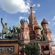 モスクワ  ワシリー大聖堂 赤の広場はとても綺麗でした