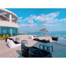 韓国蔚山のカフェ【Hey-mer】🍰☕️♪♪♪  海が見渡せる絶景スポットです‼️