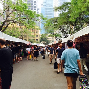 Saturday market Salcedo , Makati , Manila