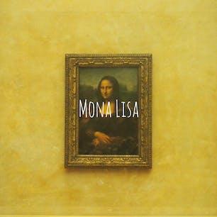 意外と小さかったモナリザ様  #パリ#海外旅行#モナリザ#ルーブル美術館