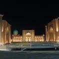 【ウズベキスタン🇺🇿】サマルカンド  夜のレギスタン広場  #ウズベキスタン共和国° #サマルカンド #レギスタン広場 #2017