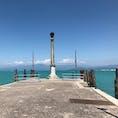 イタリア、ペスキエラからのガルダ湖の眺め。