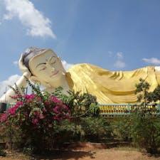 ミャンマーの涅槃仏(寝釈迦仏) バゴー ミャッターリャウン