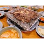 韓国蔚山にある【彦陽キワチップルコギ】‼️  名物の彦陽プルコギをいただきました♡炭火のいい香りで最高に美味しかったです♪♪♪