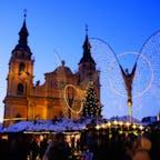 ドイツ、ルートヴィヒスブルクのクリスマスマーケット。