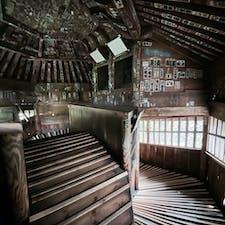 会津さざえ堂。上りも下りも螺旋階段がひたすら続く、なんとも不思議な建物でした。 #さざえ堂 #会津