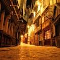 フランス、モンサンミッシェルの城下町。