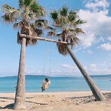 ヤシの木ブランコ🌴  #福岡 #糸島