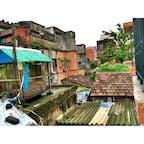 【インド🇮🇳】コルカタ  ホームステイのお部屋からの眺め  #インド° #コルカタ #2016/08