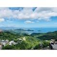 台湾 朝の九分から眺められる景色です。