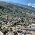 """アルバニアの""""石の街""""ジロカストラ。アルバニアはヨーロッパの秘境・最貧国といわれているだけあり、物価も安くてオススメです。"""