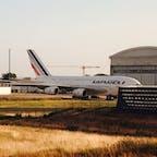 シャルル・ド・ゴール空港  エールフランスのA380。各社この超大型機を退役させる潮流。。もうこの機体を見ることはないのですね。😞