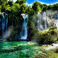 ボスニア・ヘルツェゴビナ、クラヴィツェの滝。