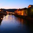 北海道 小樽運河夜景