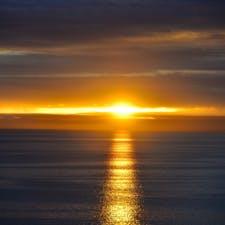 太平洋の夕景。