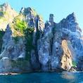 北海道 小樽 青の洞窟クルージング 通りがかりの岩