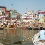 Ganges River @ India 朝は活気が溢れる川  Mar. 2012
