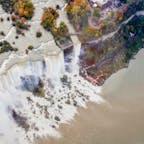 ナイアガラの滝、ヘリコプターから。