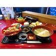 海鮮丼と天ぷらの定食