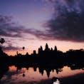 【カンボジア/シェムリアップ】 アンコールワットの朝焼け。