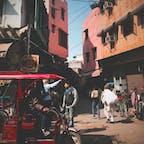 インド🇮🇳 人、車、バイク、牛、羊、ヤギ。 たくさんの生き物が行き交う街に多くの発見があって飽きない。