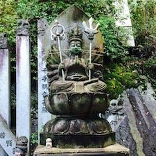 コロナ仕様の仏像@尾道 千光寺