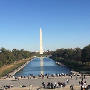 Washington monument @ Washington DC  リンカーンから見た景色  Oct. 2016