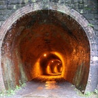 2020.7.31.めがね橋 群馬県  階段を上りきると現れる不気味なトンネル。びっくりするほどの冷気がトンネルから感じます∩^ω^∩おばけはでませんでした◎