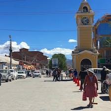 ボリビア、ウユニの街の中。 高山病でグロッキーな中撮った一枚です。