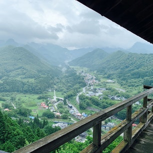 山寺立石寺山上 五大堂からの風景
