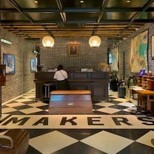 韓国ソウル MAKERS HOTEL🇰🇷 韓国好きの友人セレクト!部屋は少し狭いですが、お洒落でリーズナブルなホテルでした。 近くの駅からは金浦空港、明洞、東大門、景福宮に行くにも乗り継ぎなしで便利です😌