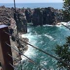 城ヶ崎海岸  海は綺麗だけど、高所恐怖症の私としてはさっさと橋を渡りきりたかった!!笑