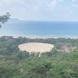 香川県の銭形砂絵です。  この砂絵を見れば健康で長生きし、お金に不自由しないと伝えられているそうです。