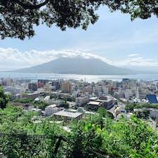 鹿児島、城山展望台です。 ここでは鹿児島市と桜島を一気に見渡すことができる鹿児島に来たら外せない観光スポットです。