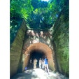 神奈川県横須賀市、猿島の愛のトンネル。
