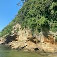 神奈川県横須賀市猿島。 無人島と思えないくらい人がいっぱい。