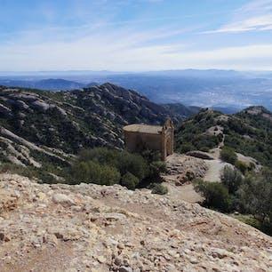 スペイン、モンセラット ちょっとした登山