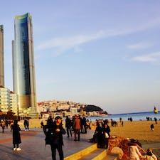 今年1月に行った、韓国釜山の海雲台ビーチ🙃 早く行きたい‼️