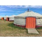 【モンゴル🇲🇳】カラコルム  ツーリストキャンプ  ここの名前忘れちゃったけど カラコルム付近のツーリストキャンプ これぞモンゴル  #モンゴル° #2017/07