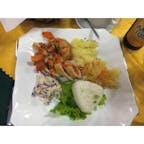 【モンゴル🇲🇳】カラコルム  ツーリストキャンプ ご飯のモンゴルぽさはない 味は可もなく不可もなく  #モンゴル° #2017/07