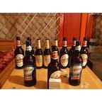 【モンゴル🇲🇳】カラコルム  ツーリストキャンプ  専属のガイドさんの奢り モンゴル滞在中のお酒は全部奢ってくれた ガイドさん謎の優しさ発揮  モンゴルビールすごい飲みやすかった記憶  #モンゴル° #2017/07