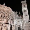 イタリア・フィレンツェ 昼間とは違う夜の空気感も感慨深い またこの場にいたい