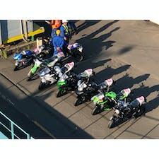 積載前のカワサキバイク群🏍