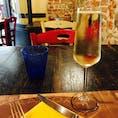 イタリア・フィレンツェ なみなみのスプマンテ ぐびぐび飲んじゃう〜 しあわせ